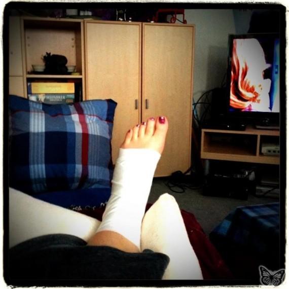 Mein Knöchel in Verband