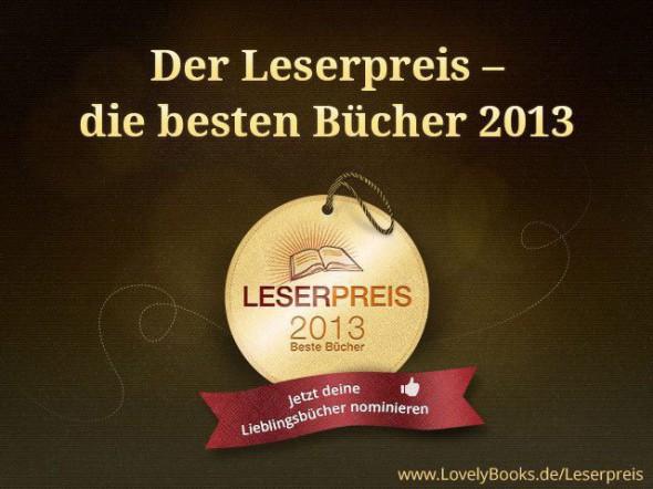 Logo Leserpreis 2013 lovelybooks