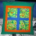 Patchwork Turtles-Kissen