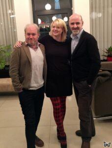 v.l.: Toby Hadoke, me, Nicholas Briggs