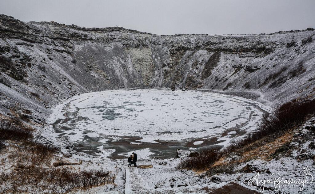 VulkankraterKerið im Winter