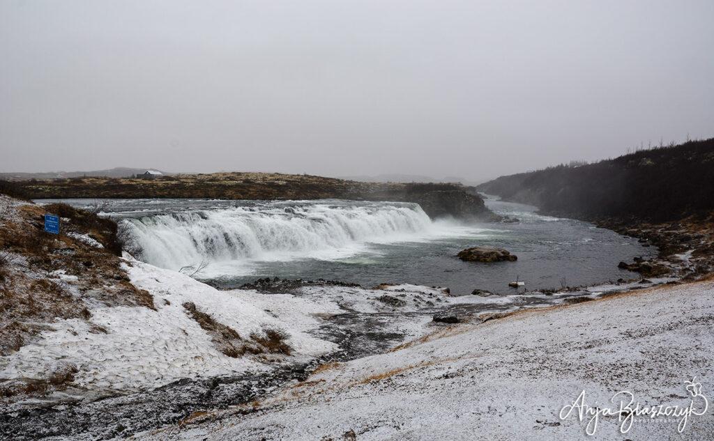 Wasserfall Faxafoss im Winter