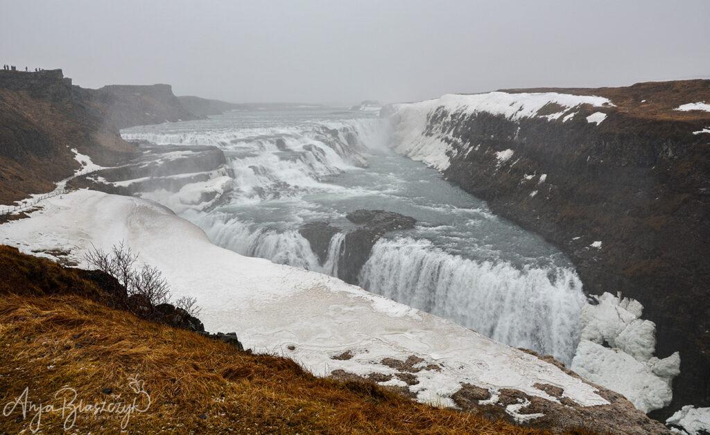 Wasserfall Gullfoss im Winter