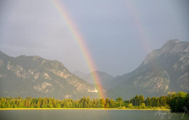Regenbogen über Schloss Neuschwanstein