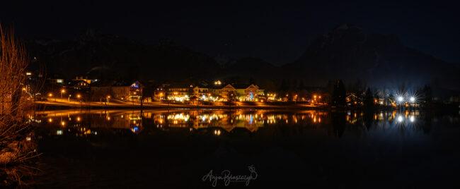 Hopfen am See bei Nacht